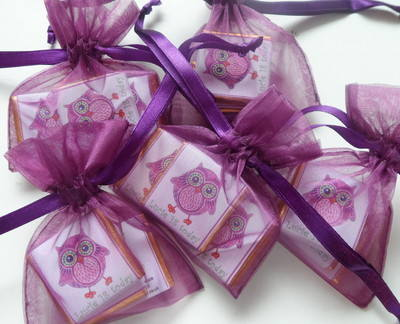TWIT TWOO DESIGN FILLED FAVOUR (3 mini chocs)