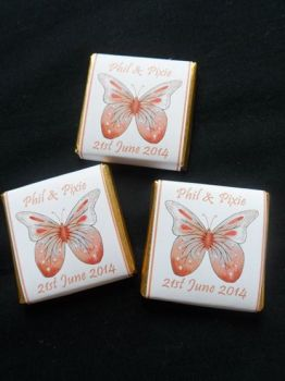 BUTTERFLY ORANGE - mini 4.5g chocolate favour