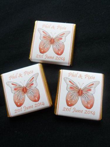 BUTTERFLY ORANGE - mini 4.5g chocolate favour