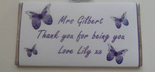 BUTTERFLIES (PURPLE) - large chocolate bar 40g