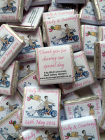 BIKER BRIDE (PALE PINK) - mini 4.5g chocolate favour