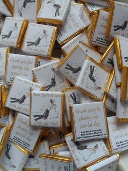 RUNAWAY GROOM (GOLD) - mini 4.5g chocolate favour