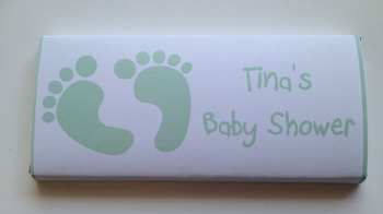 BABY GREEN FOOTPRINTS - large favour 40g