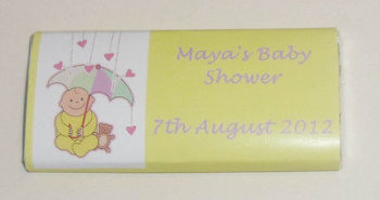 BABY SHOWER YELLOW - large favour 40g