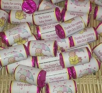 BABY SHOWER YELLOW - love hearts (2 sizes)