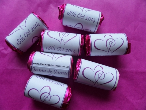 HEARTS ENTWINED (purple) - love hearts (2 sizes)
