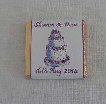 CAKE (purple) - mini 4.5g chocolate favour