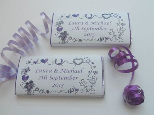PURPLE BORDER - large favour 40g