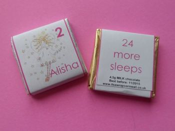 ANGEL ADVENT (24 mini squares and 1 x 40g large bar in christmas organza bag)