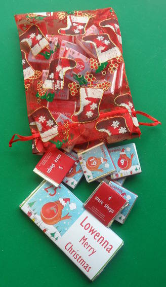 ROBIN advent set falling out of bag