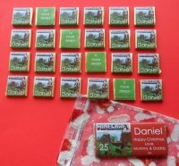 MINECRAFT ADVENT (24 mini squares and 1 x 40g large bar) in christmas organza bag