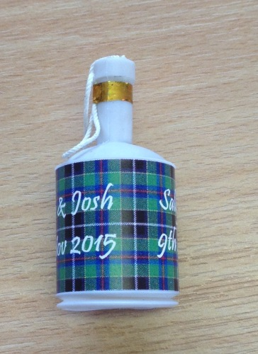 CORNISH HUNTING TARTAN party poppers