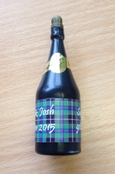 CORNISH HUNTING TARTAN - bubbles (bottle shaped)