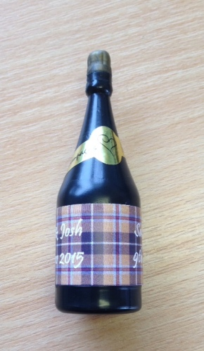 CORNISH TARTAN - bubbles (bottle shaped)
