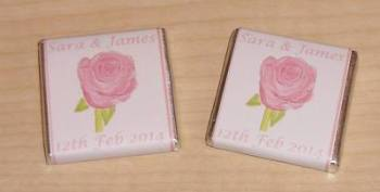 PALE PINK ROSE  - mini 4.5g chocolate favour