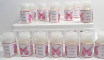 PINK BUTTERFLY - bubbles (hexagonal shaped)