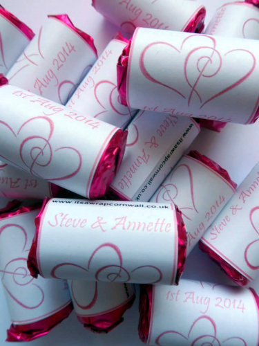 HEARTS ENTWINED (pale pink) - love hearts (2 sizes)