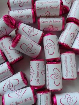 HEARTS ENTWINED (hot pink) - love hearts (2 sizes)