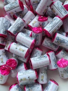 BIKER BRIDE (pale pink) - love hearts (2 sizes)