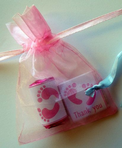PINK FOOTPRINTS - mixed drawstring filled favour