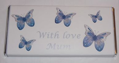 BUTTERFLIES BLUE TEACHER THANK YOU - large chocolate bar 40g