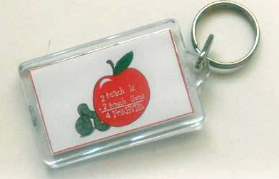 APPLE TEACHER THANK YOU personalised keyring