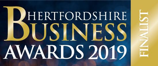 Herts Business Awards - Finalist - Blue Background
