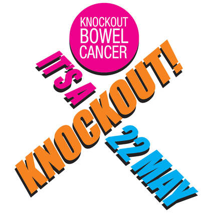 knockout bowel cancer logo