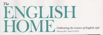 the english home logo