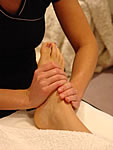 reflexology and feet massage