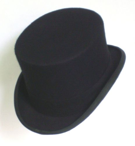 Christy's of London Black Wool Top Hat