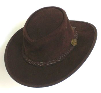 Barmah Brown suede leather hat