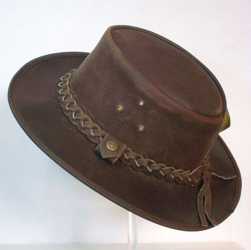 Aussie  leather all weather hat