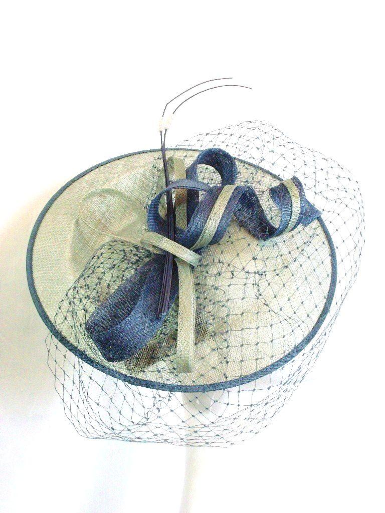 Disc hat in sea green & denim blue - Failsworth 7517
