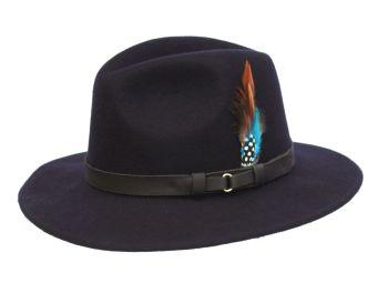 Denton Ranger Wool Hat Navy - Teflon Coated Crushable