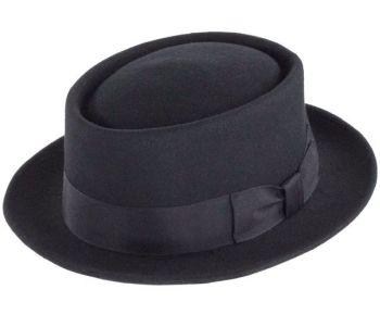 Denton Black Felt Pork Pie hat