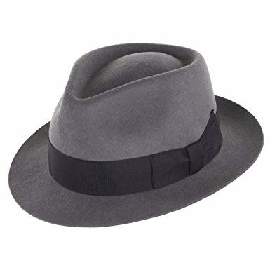 Denton Manhattan Grey Wool Trilby