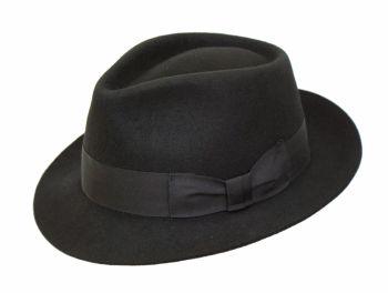 Denton Manhattan Black Wool Trilby