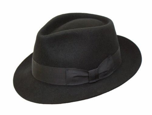 Denton Manhattan Black Wool Trilby