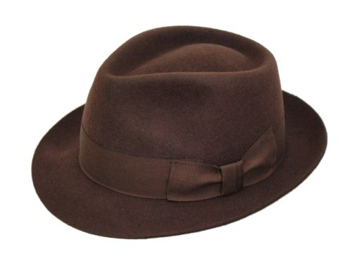 Denton Manhatten Dark Brown Wool Trilby