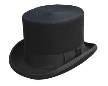 Dentons Black Wool Top Hat