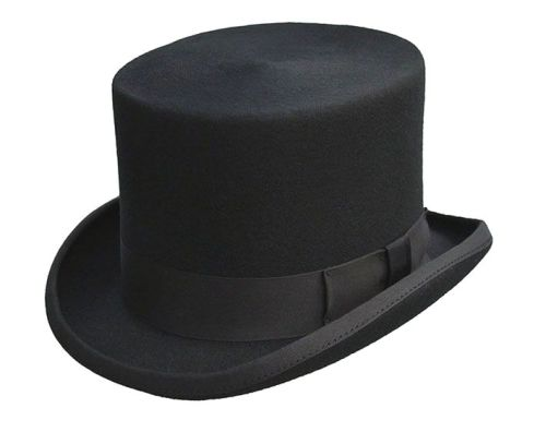 Dentons Black Wool Top Hat
