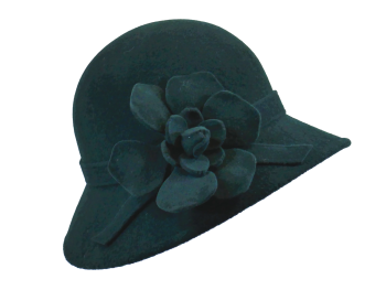 Whiteley Suede Felt Hat in Forest Green 200/941