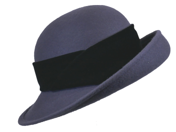Whiteley Woolfelt hat in Charcoal 137/924