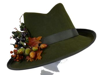 ANN-AUTUMN FELT HAT handmade by Anna at The Beverley Hat Company