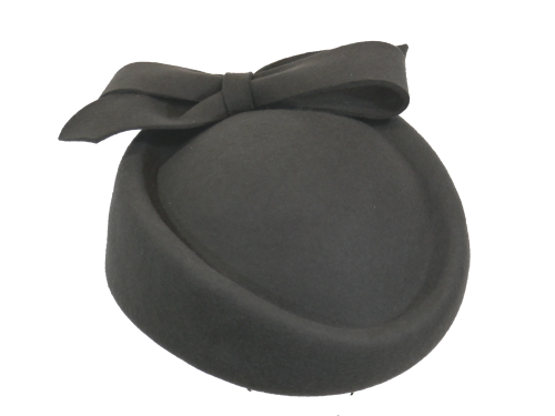 Wool Felt Rolo Hat in Charcoal JBW-18