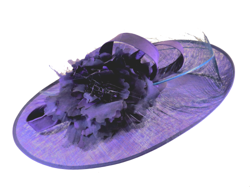 Royal purple Indigo Richard Designs Handmade Hat BM213H