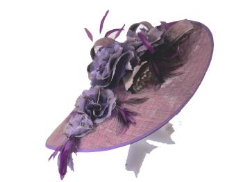 Aubergine Richard Designs handmade hat FQ173 WAS £280