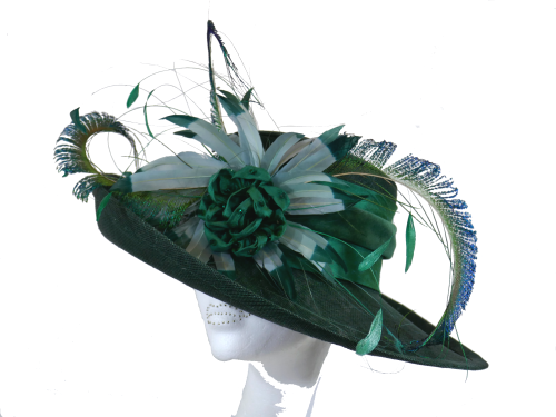 Dark Bottle Green Handmade Hat ANN-020