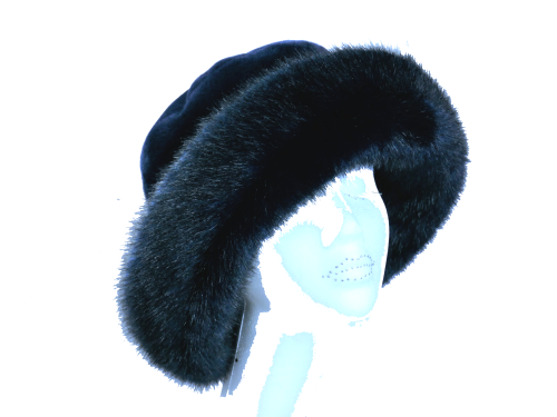 Navy Luxury Faux Fur by Whiteley 904/041